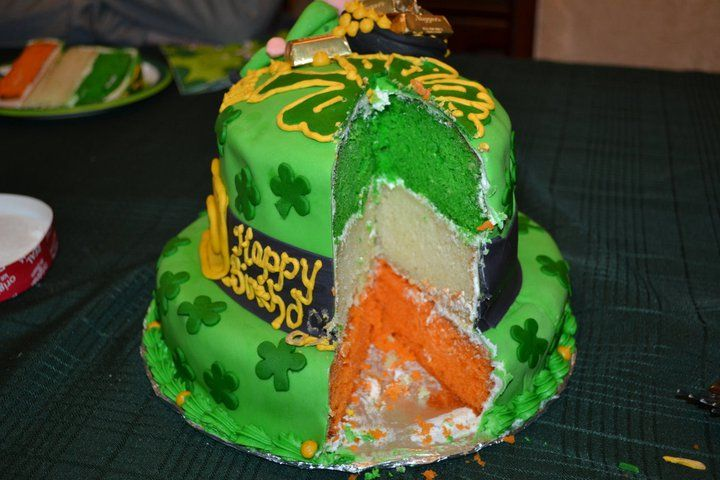 Pleasing Irish Birthday Cake Inside With Images Irish Birthday Cake Personalised Birthday Cards Veneteletsinfo