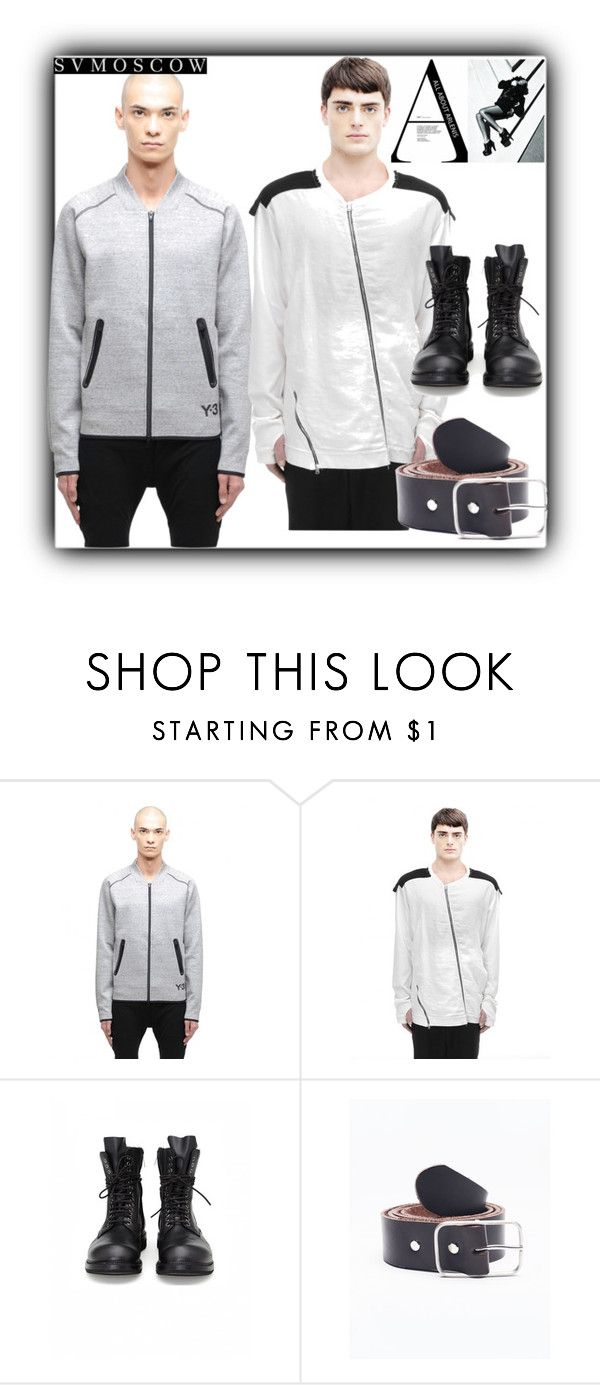"""""""5/2 SVMoscow"""" by fatimka-becirovic ❤ liked on Polyvore featuring Y-3, Lost & Found, Amaury, men's fashion and menswear"""