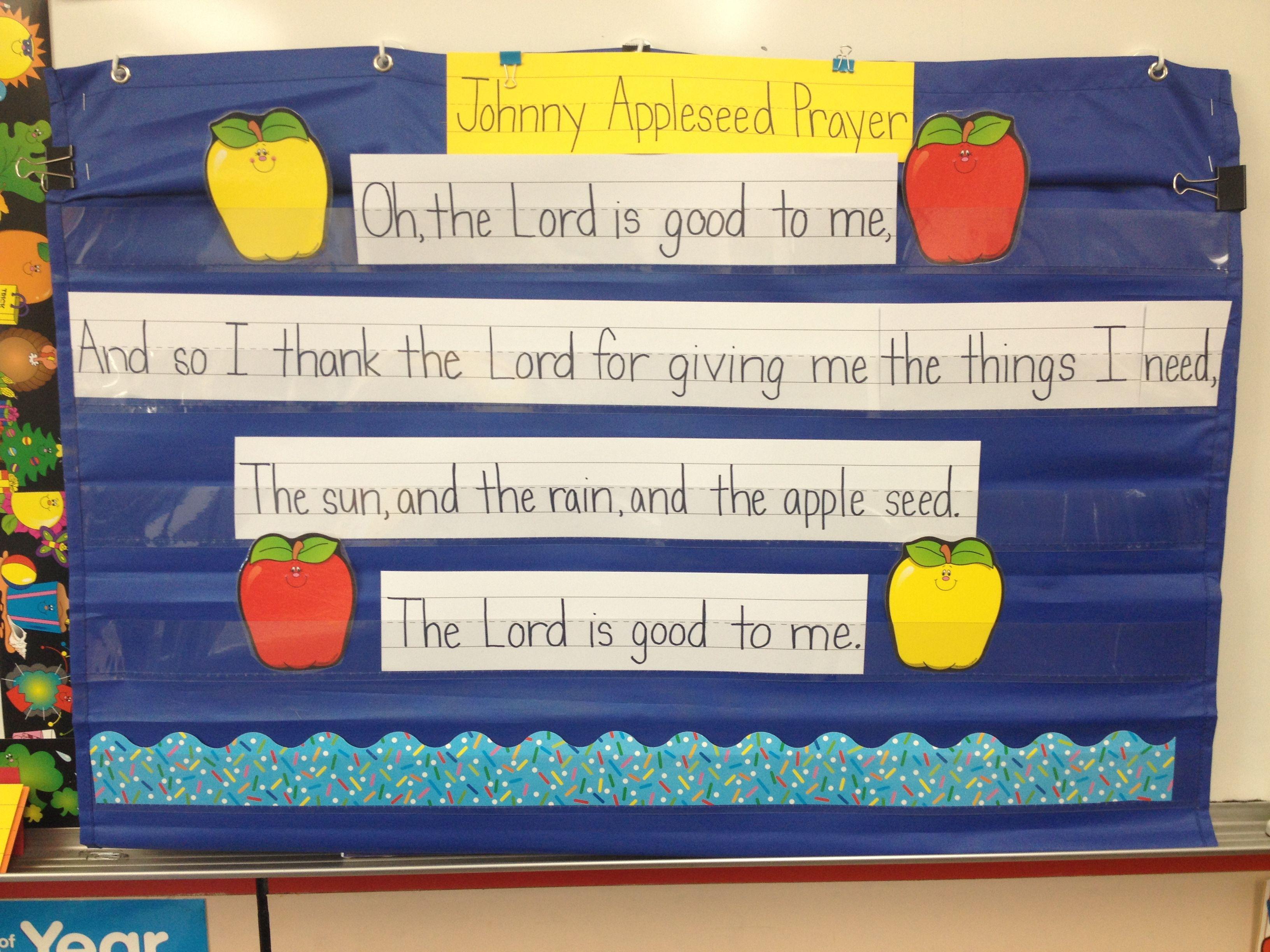 September Poem Johnny Appleseed Prayer