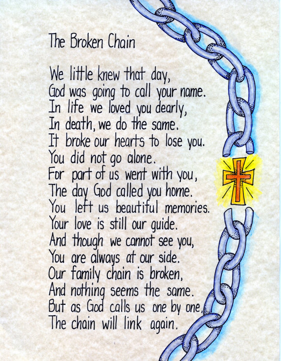 """love the idea of """"chains linking again"""" 