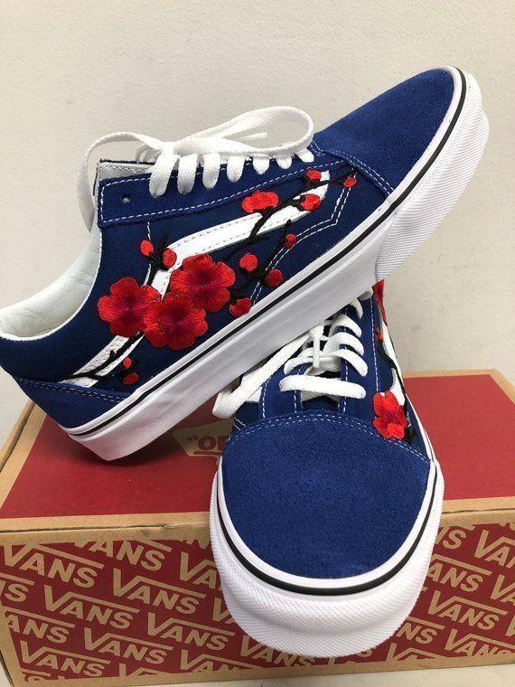 Pin By Dulce Maceda On Shoes In 2020 Custom Vans Shoes Embroidered Vans Cute Vans