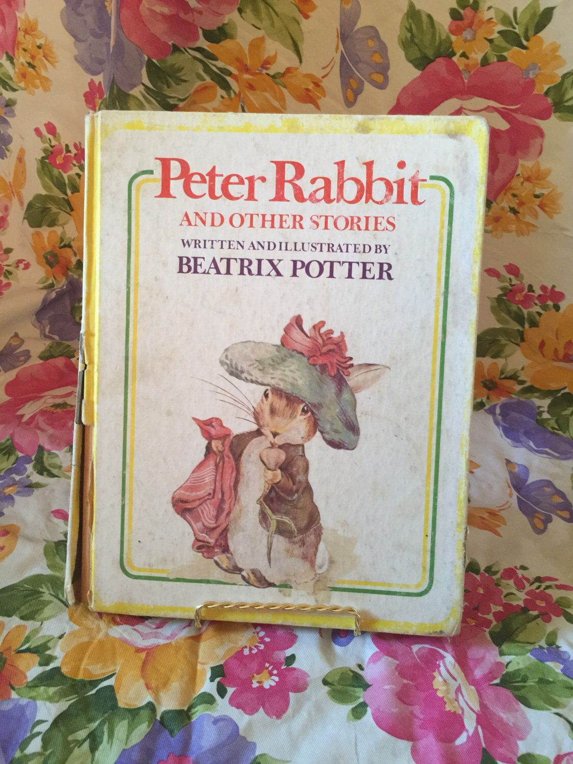 A personal favorite from my Etsy shop https://www.etsy.com/listing/238136814/additional-clearance-30-off-peter-rabbit