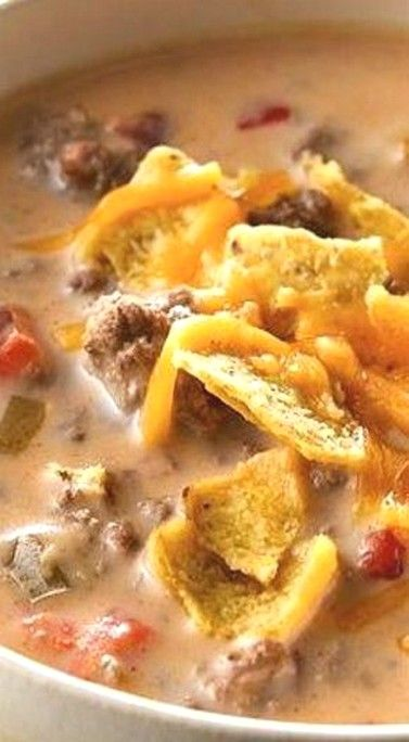 Beefy Nacho Soup | Soup Recipes Ideas images