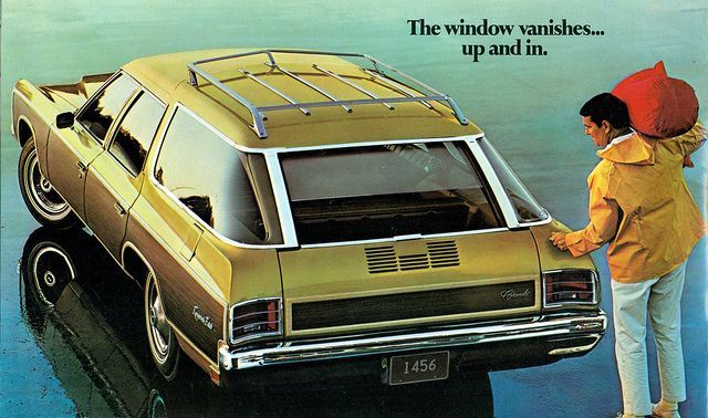 1971 Chevrolet Kingswood Station Wagon Crazy Rear Window Feature