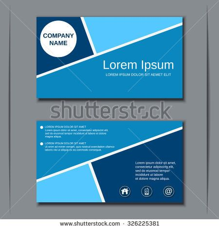 Modern business visiting card, banner, badge, sticker, mockup, flyer ...
