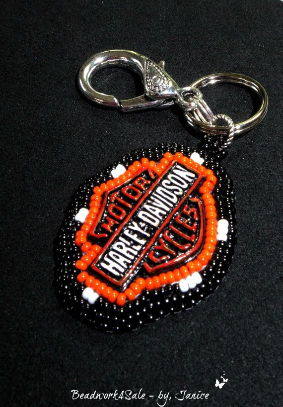father 39 s day key ring handmade beadwork all things. Black Bedroom Furniture Sets. Home Design Ideas