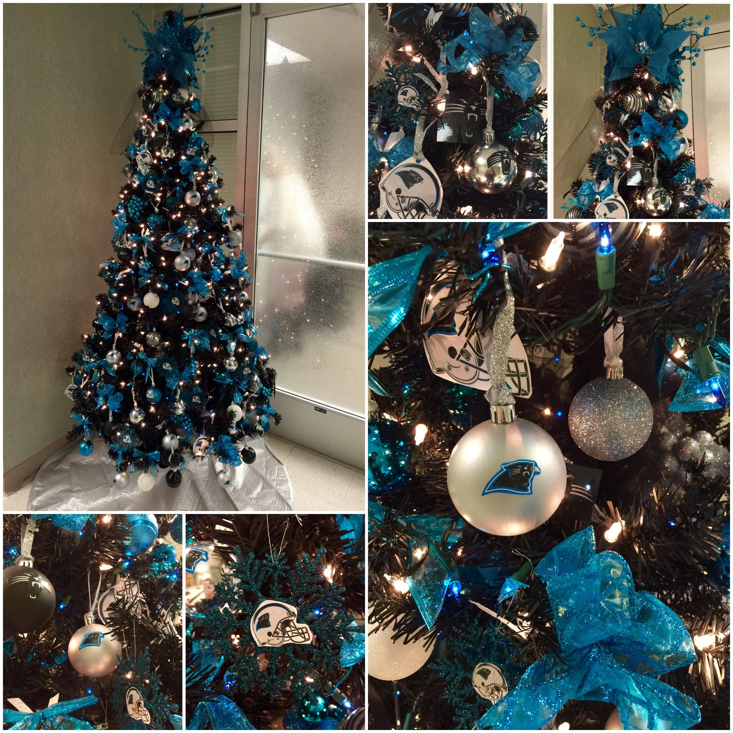 Carolina Panthers Christmas Tree  KeepPounding  49cfc6094