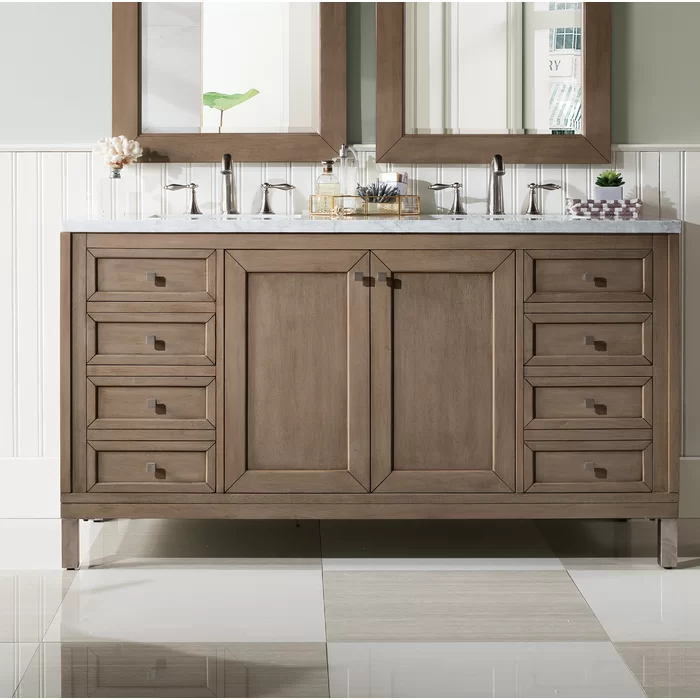 Chicago 60 Double Bathroom Vanity Set In 2020 With Images
