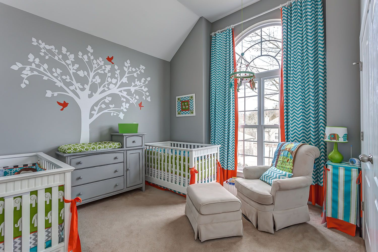 Twin Boy Nursery Amazing Colour Scheme With Images Twin