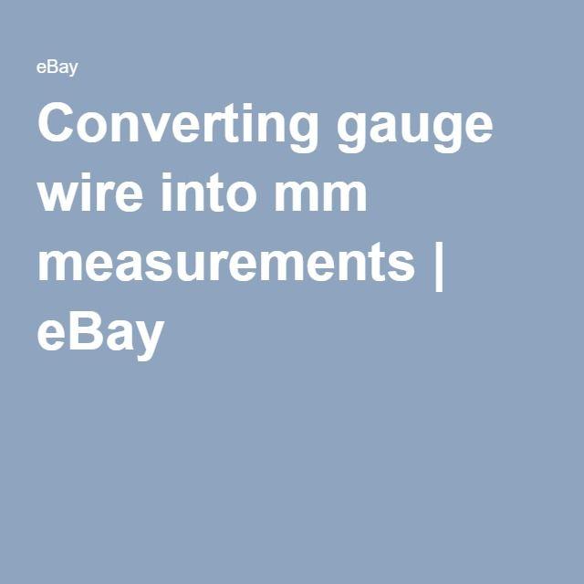 Converting gauge wire into mm measurements | eBay