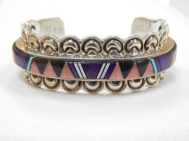 Designer Ray Yazzie Native American Handmade Gemstone Sterling