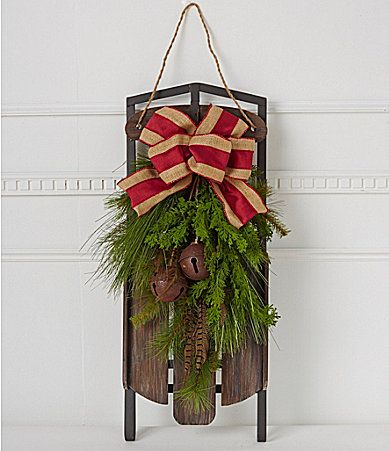 Southern Living Decorative Sled #Dillards holiday decorations