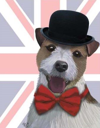 Union Jack Jack Russell by Fab Funky 019b2517337a