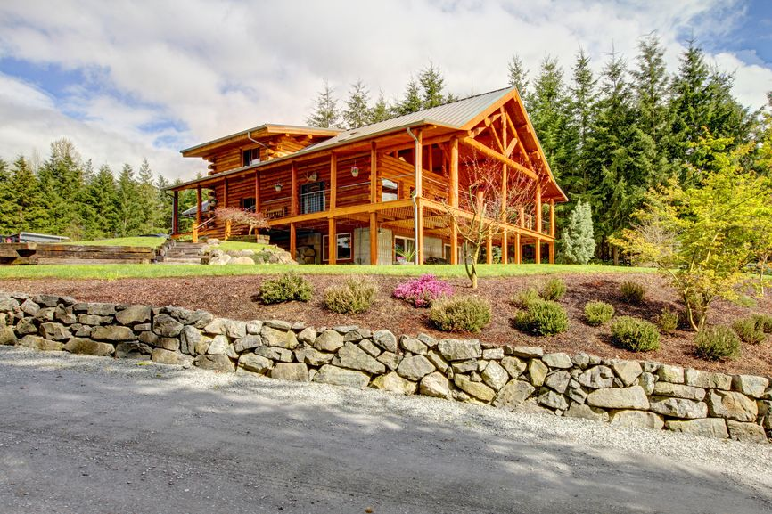 33 stunning log home designs (photographs) | logs, decking and cabin
