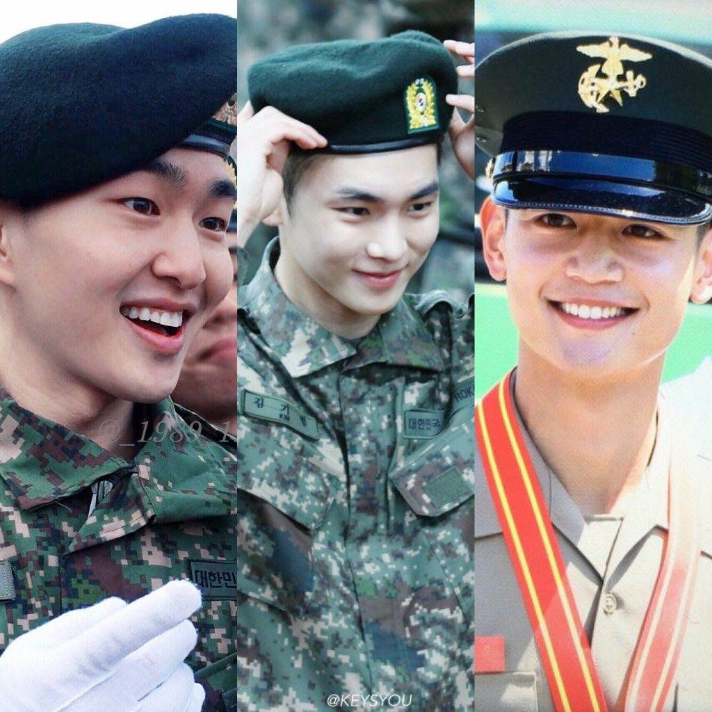 Onew Key Minho In Military Shinee Jonghyun Choi Min Ho