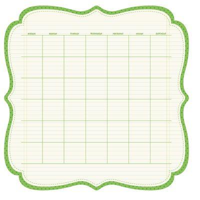 Sew cute calendar pages Graphic Art Pinterest Scrapbook - cute calendar template