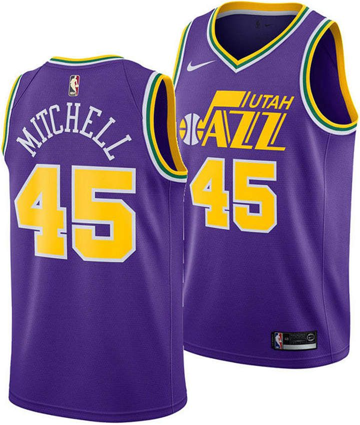 arrives 9675b a0cf8 Nike Men Donovan Mitchell Utah Jazz Hardwood Classic ...