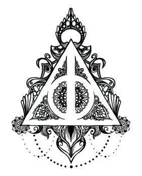 Harry Potter Harry Potter Symbol Harry Potter Coloring Pages Harry Potter Symbols Harry Potter Drawings