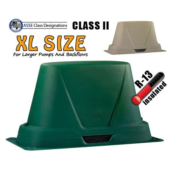 Dekorra Model 302c2 Xl Insulated Backflow Protection Enclosure Provides An Insulation Value Of R 13 This Asse Class Ii Cover I Insulated Protection Enclosure