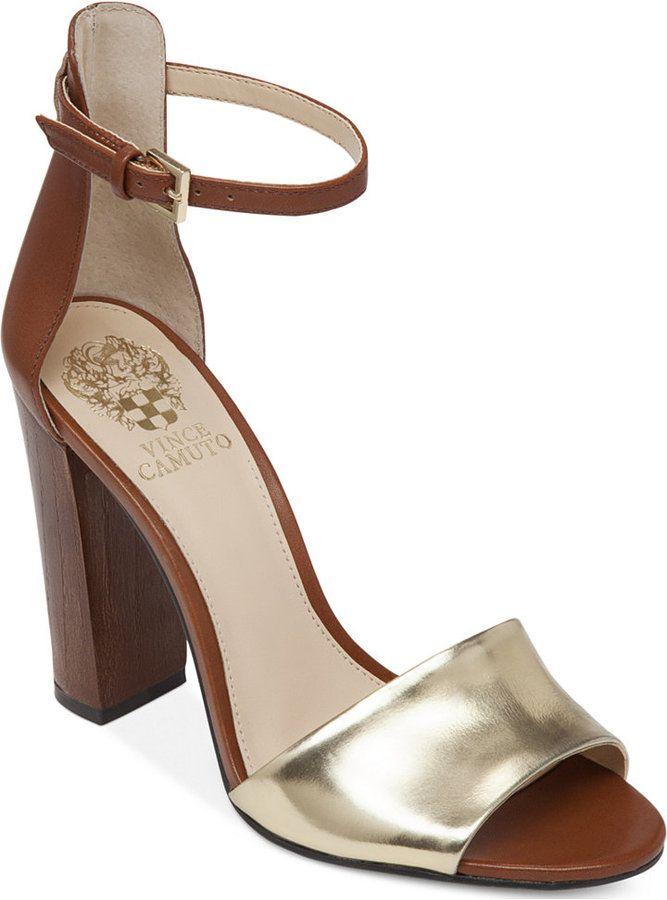 e99ef31ead Vince Camuto Velenza Block Heel Ankle Strap Dress Sandals | Closet ...
