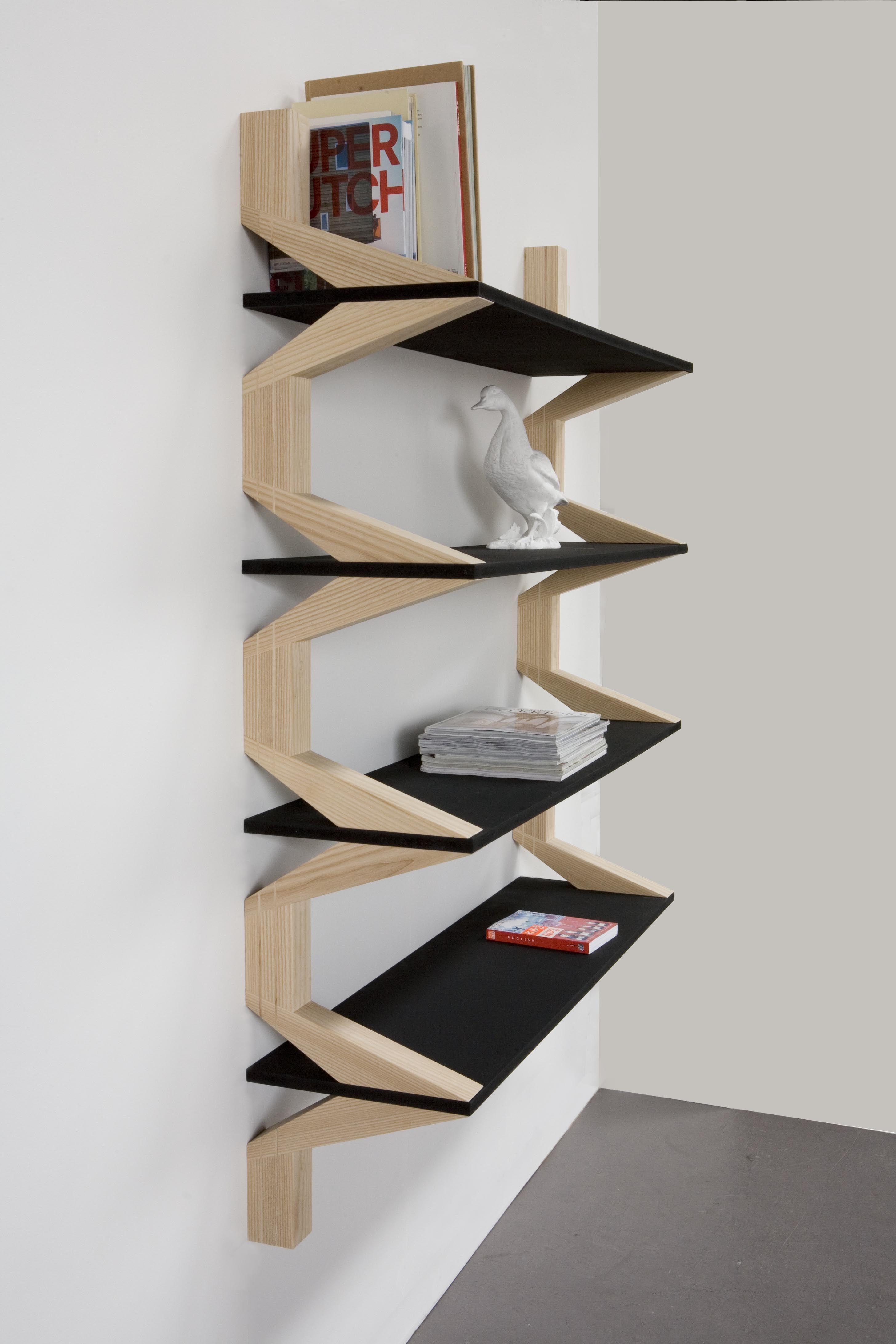 projects idea of corner wall shelving. Packman Shelves  by Arp CRIAN AS QUARTOS BRINCAR Pinterest