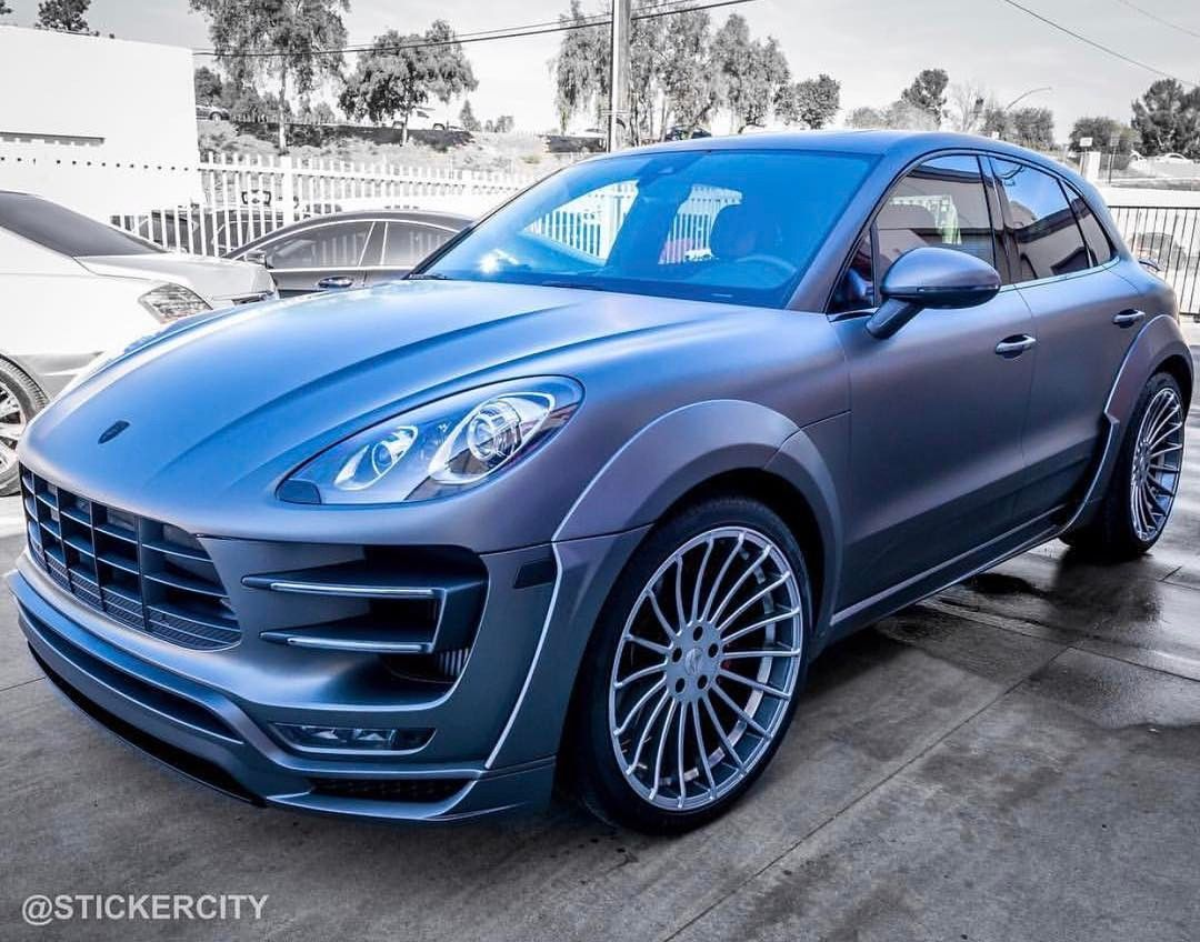 Porsche Macan Wrapped By Stickercity Check Out Stickercity And Their Insane Wraps Get The Wet Look Stickercity Clear B Car Wrap Custom Cars Porsche