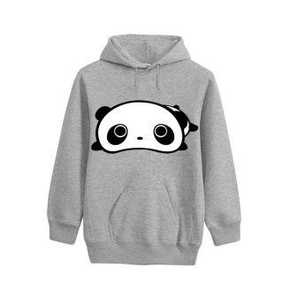 Sports hoodies panda design for womens fleece pullover hoodie