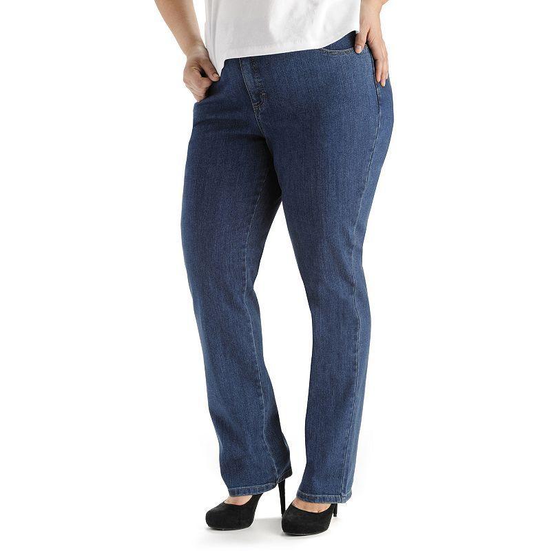 19f65168d07 Plus Size Lee Monroe Classic Fit Straight-Leg Jeans
