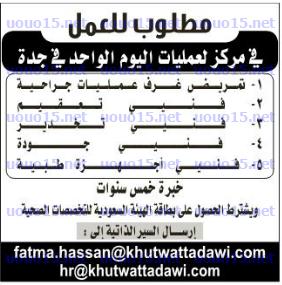 وظائف خاليه السعوديه وظائف فى مركز لعمليات اليوم الواحد فى جدة Blog Blog Posts Sheet Music