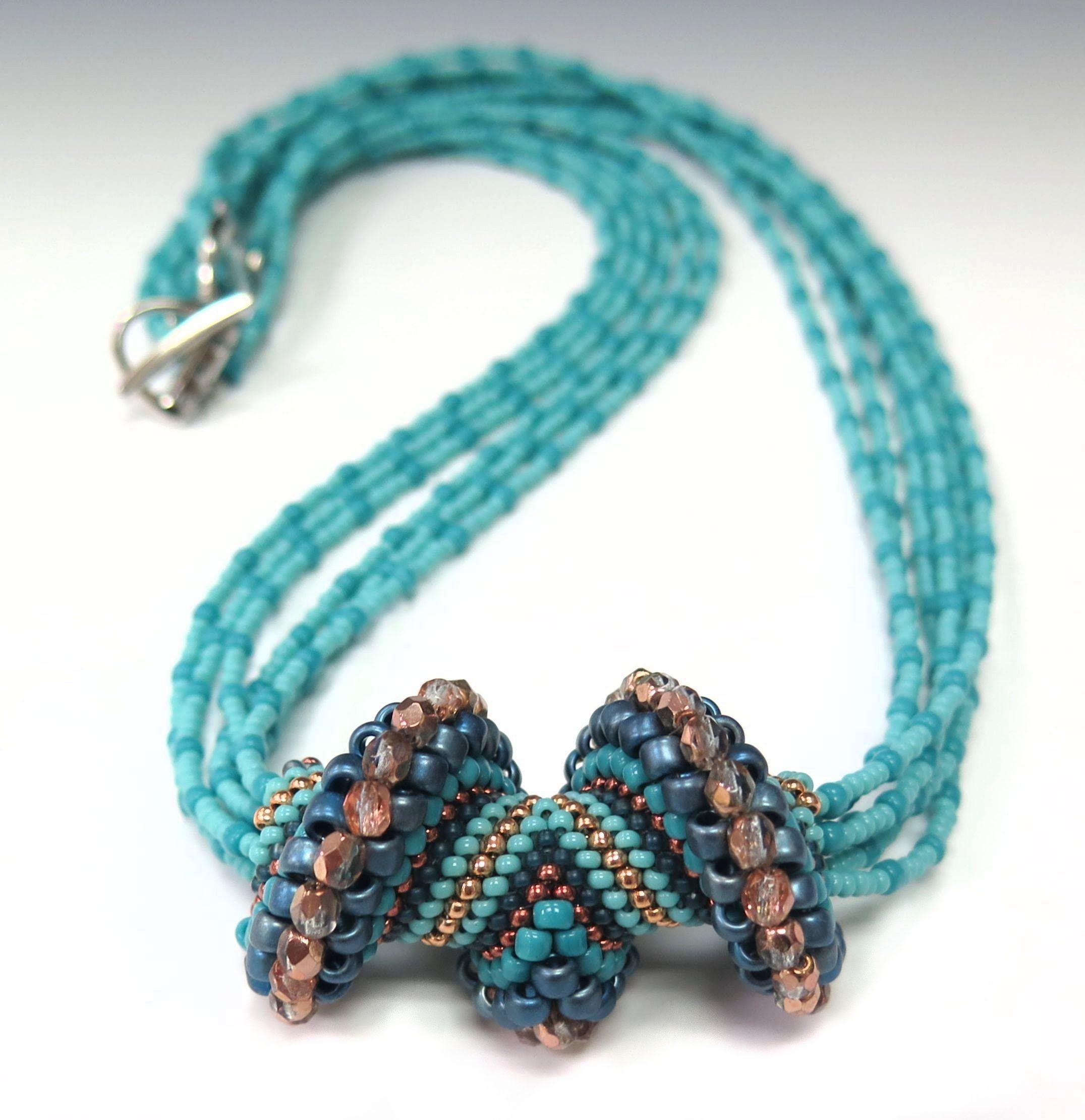 Jewel School: Wave Crest Necklace | Seed Bead Tutorials | Pinterest ...