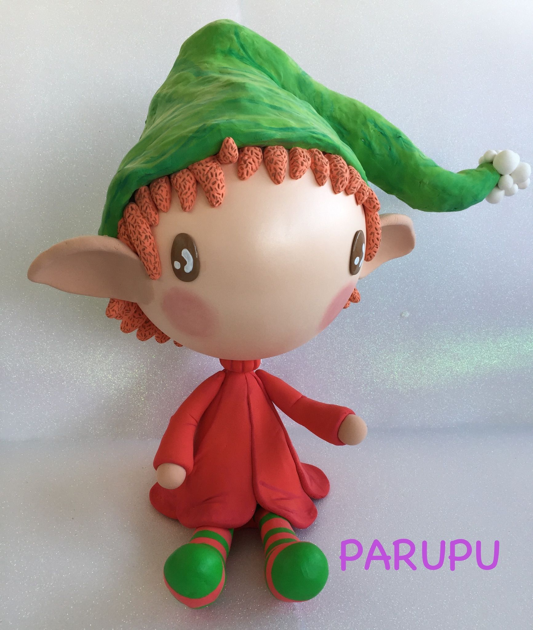 Duende Jumping Clay Parupu Christmas Elf #Parupu #Christmas #Navidad #Decoraci
