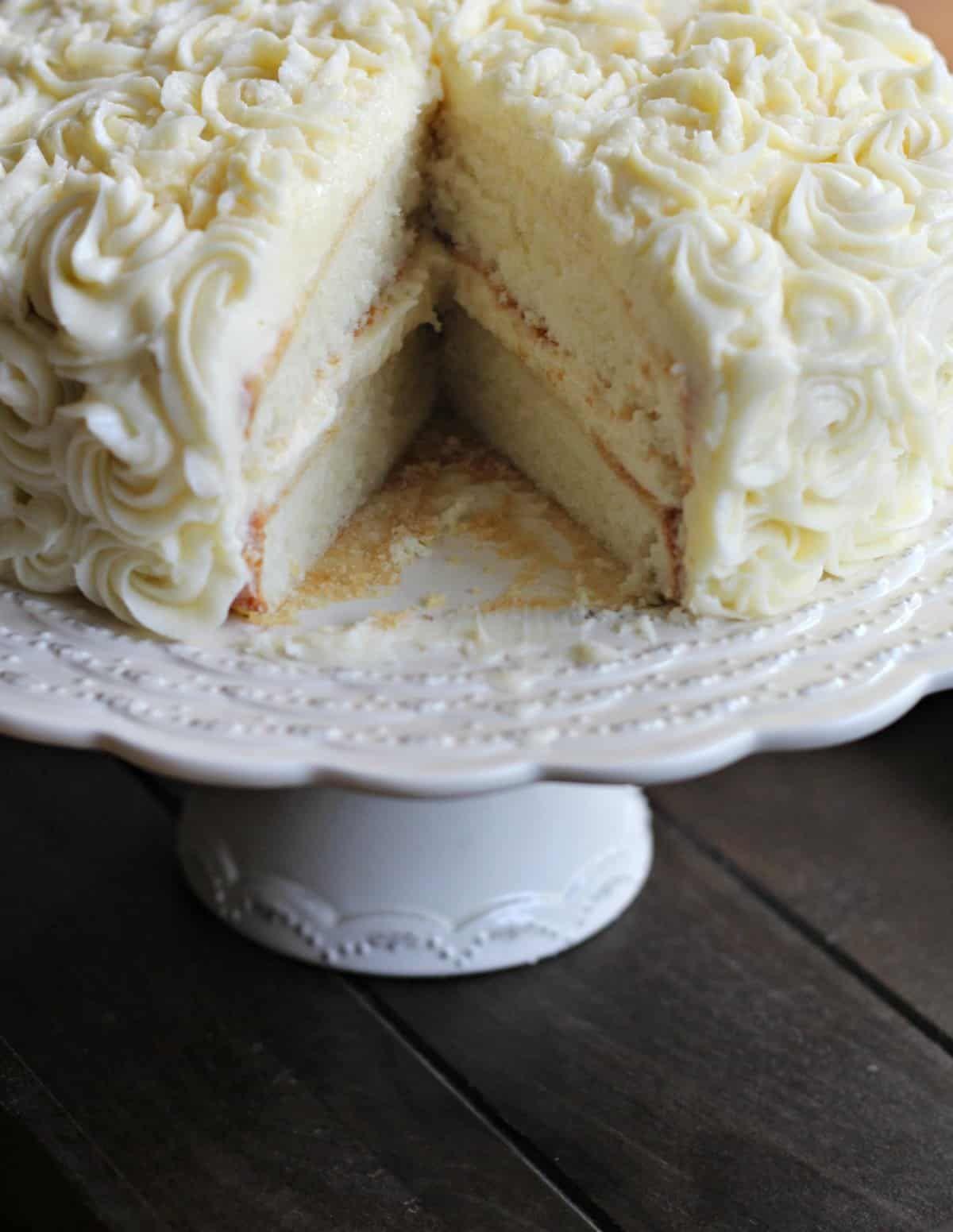 Awe Inspiring White Cake Recipe Cake Recipes Homemade White Cakes Cake Funny Birthday Cards Online Alyptdamsfinfo