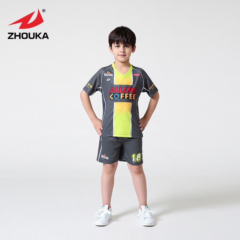 Youth Soccer Uniform Set Kits In Stock Free Shipping Top Quality Boys Soccer Wear Set Cheap Sublimation Kids Soccer Je Soccer Uniforms Kids Soccer Youth Soccer