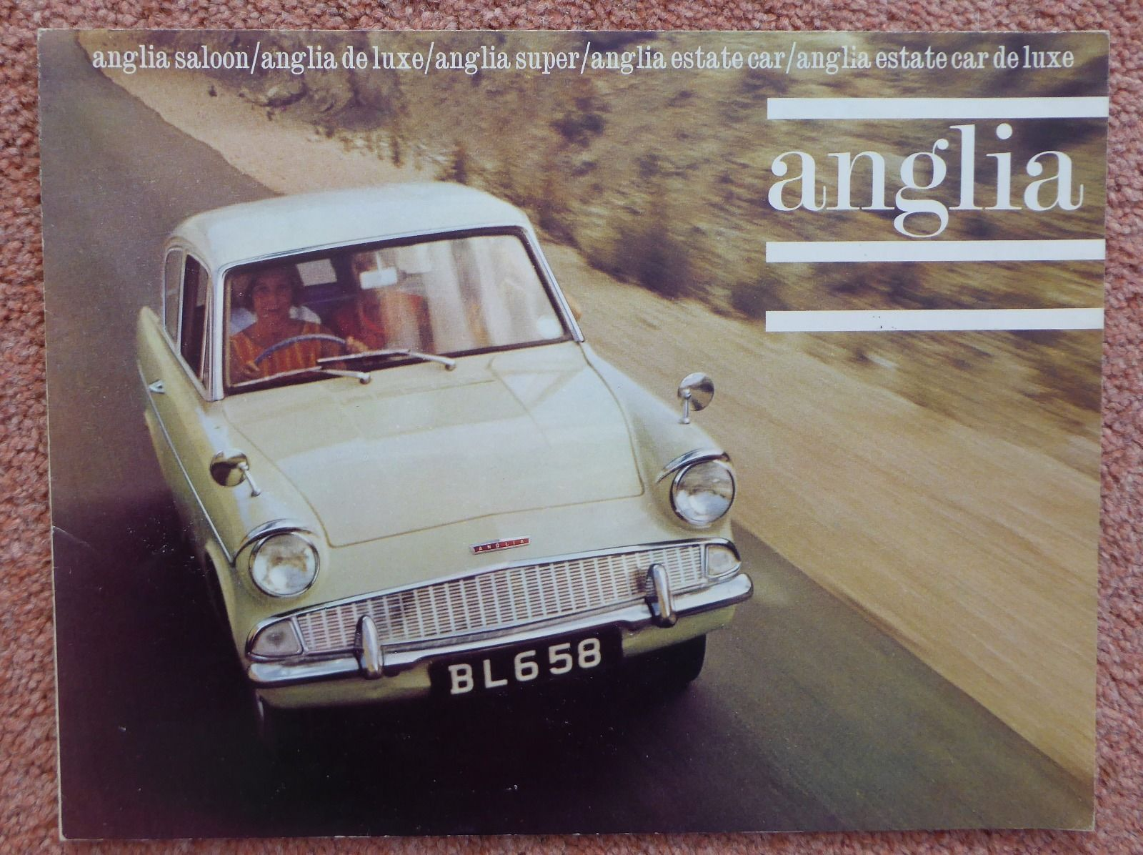 Ebay 1964 B Ford Anglia 123e Super In Spruce Green White With Green Interior Classiccars Cars
