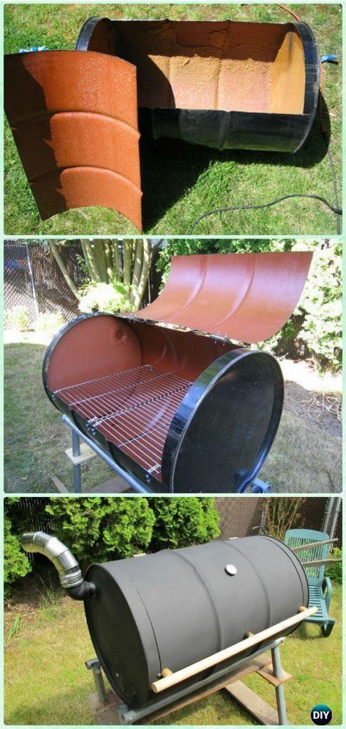 DIY BBQ Barrel Grill Instruction   DIY Backyard Grill Projects