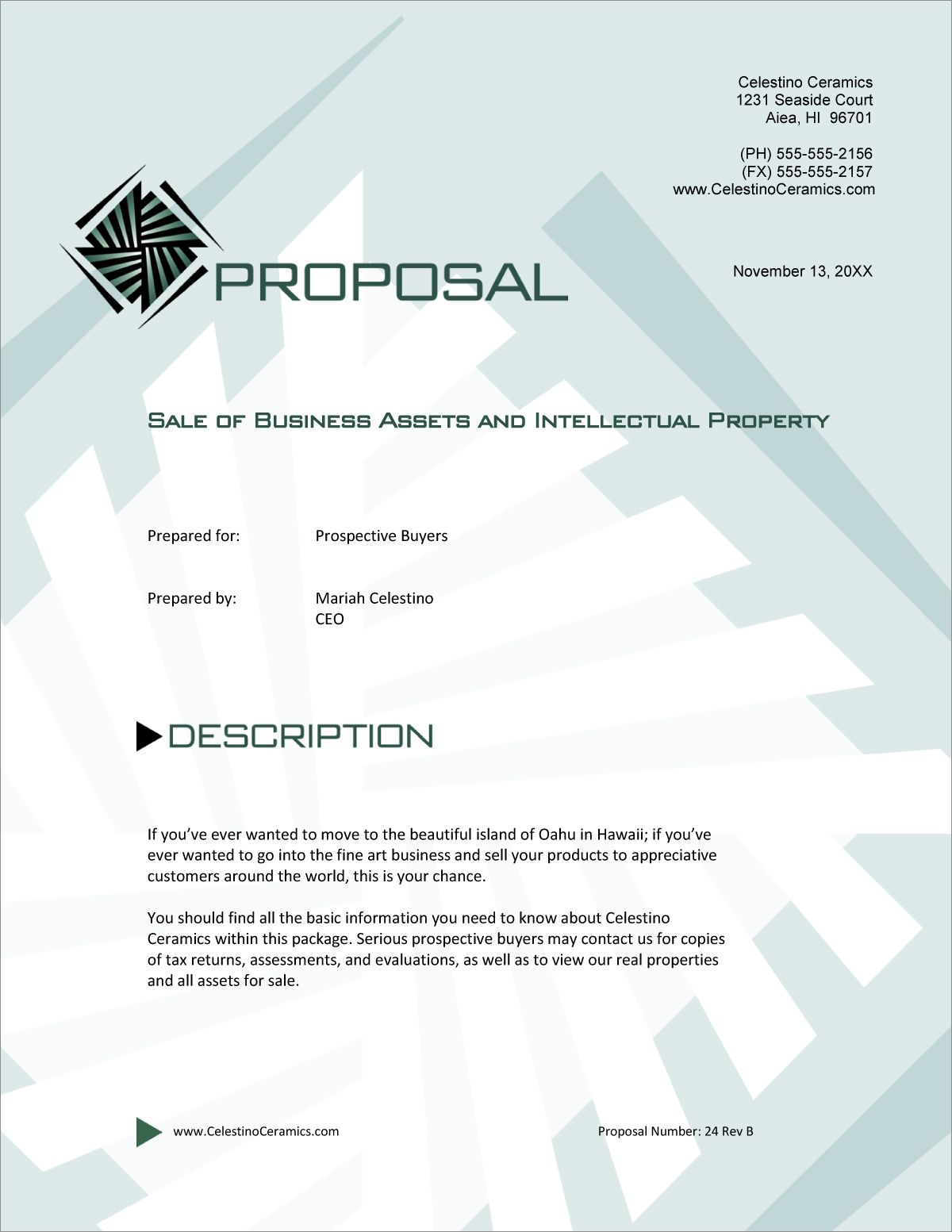 Sale Of Business And Assets Sample Proposal 5 Steps Within Business Sale Proposal Template Proposal Templates Business Proposal Template Business Proposal