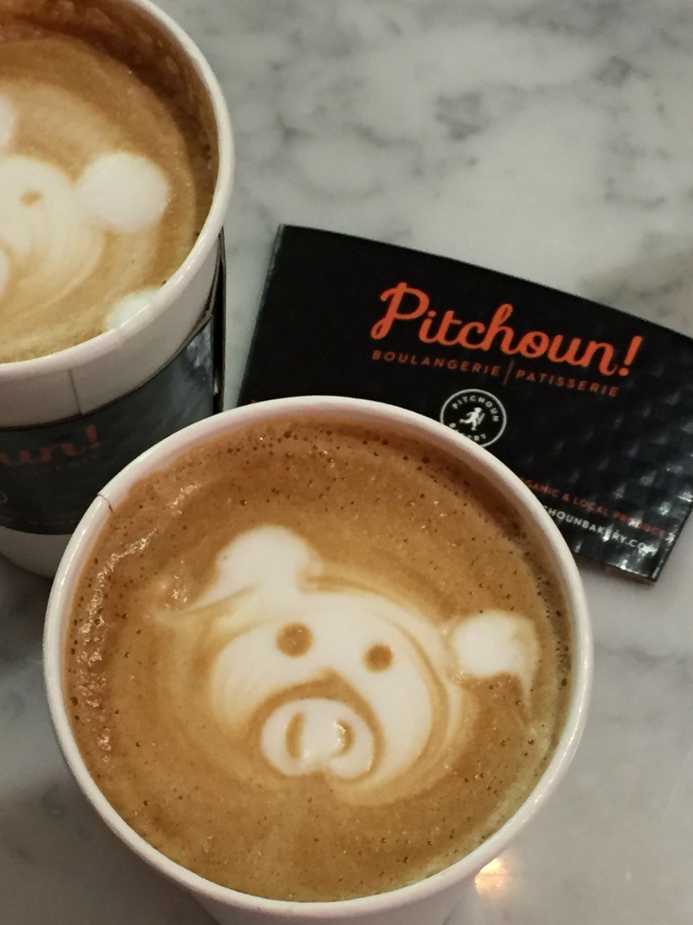 Latte art at Pitchoun!