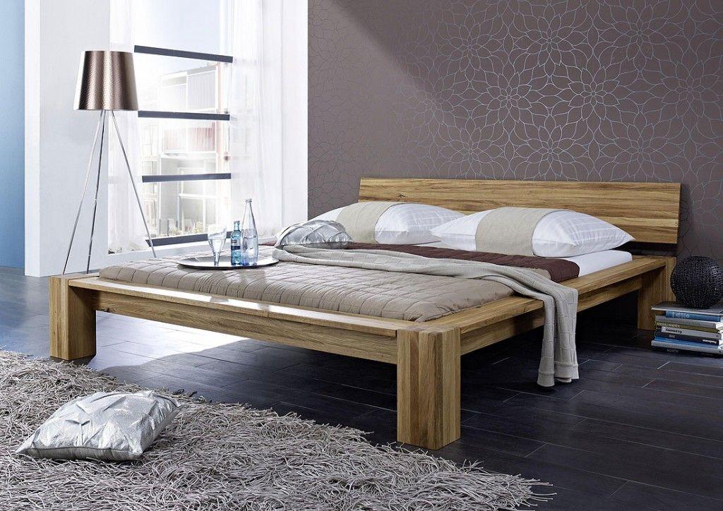 Massivholz Balkenbett Bett 180x200 Bettgestell Doppelbett