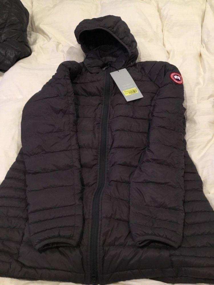 43401ec2b ebay link) Canada Goose Women Brookvale Hooded Coat Sz XL Graphite ...