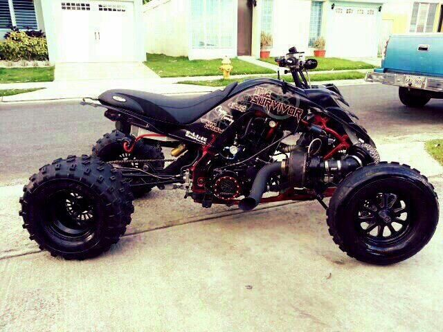 Turbo Charged Yamaha 700r Raptor Dirtbikes Atv Quads Yamaha