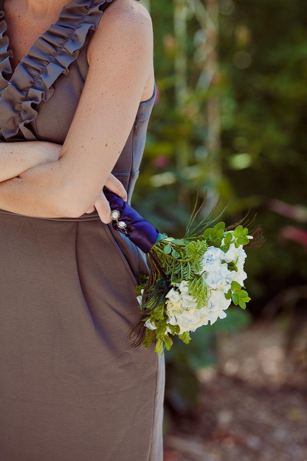 Beautiful boxwood and hydrangea bouquet!