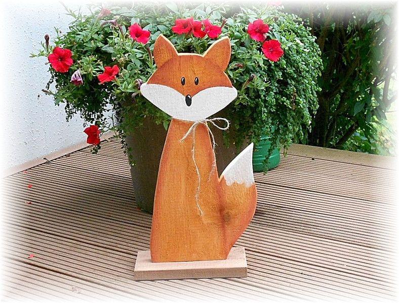 Großer Fuchs Aus Massivem Holz Von Chrissimo Auf Dawanda