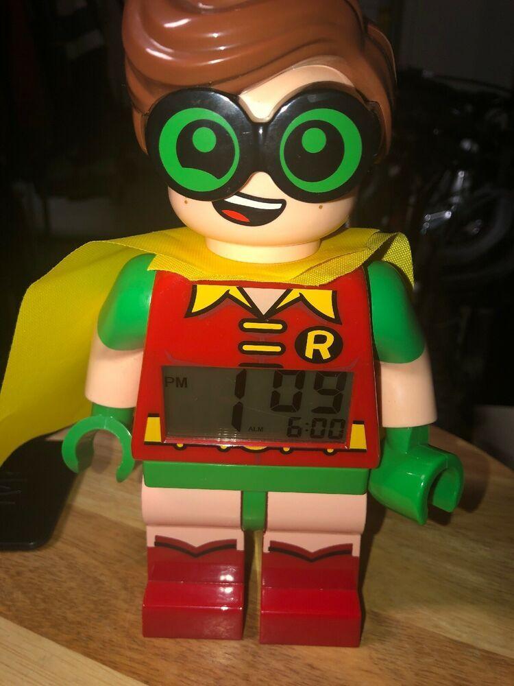 The LEGO Batman Movie Robin Minifigure Light Up Alarm