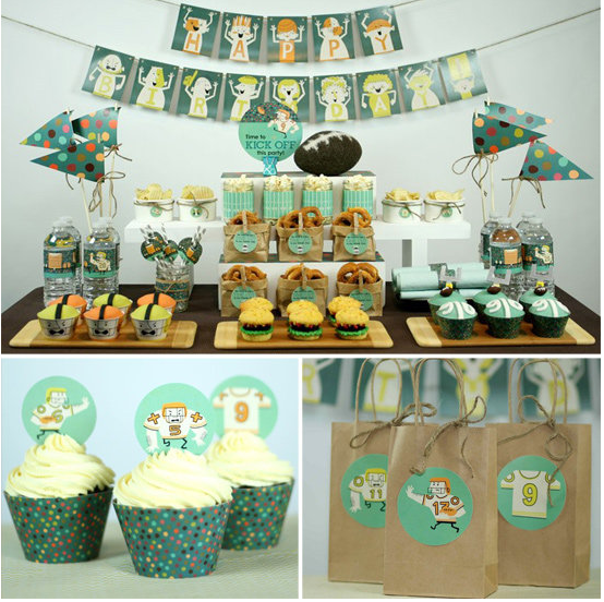 Super bowl party inspiration football birthday for Super bowl party items