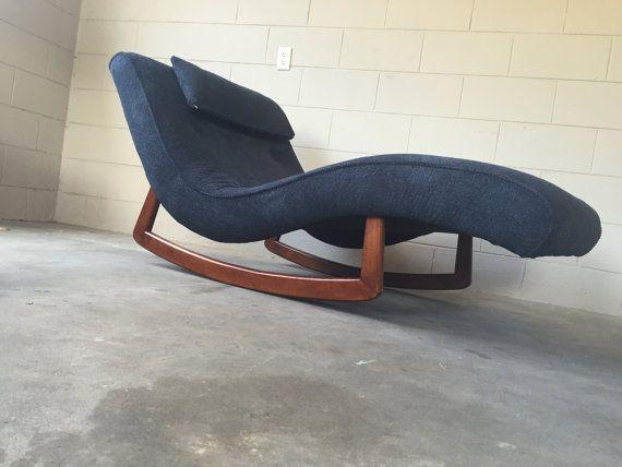 Mid Century Modern Wave Chaise Rocker Vintage Adrian Pearsall