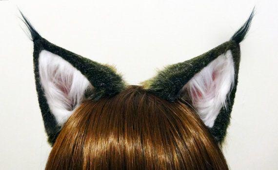 Animal Costume Ears Bear Faux Fur Ears Ears Costume Accessories Cosplay Ears Wolf ears Bear Ears Clip on ears Halloween Costume Ears