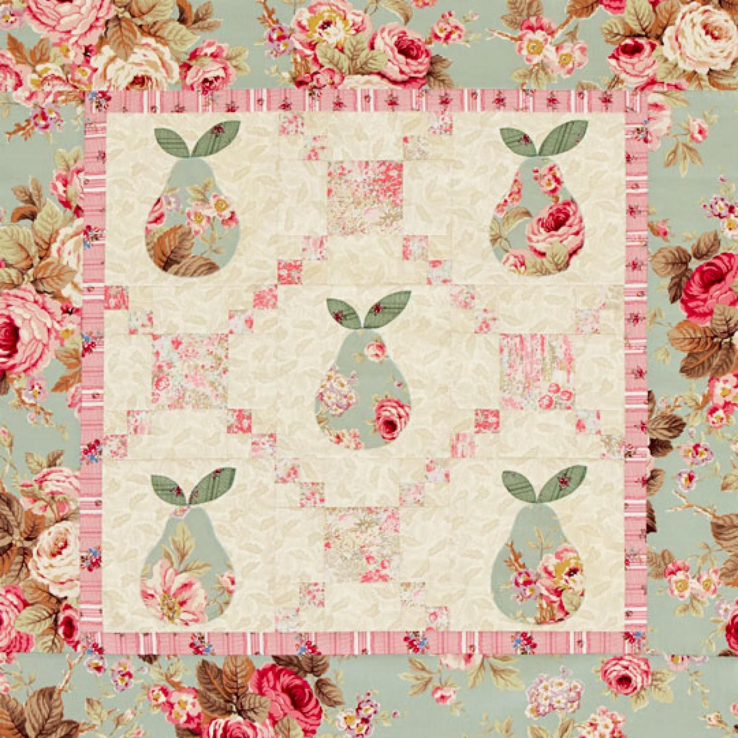 Pastel Pears Wall Quilt