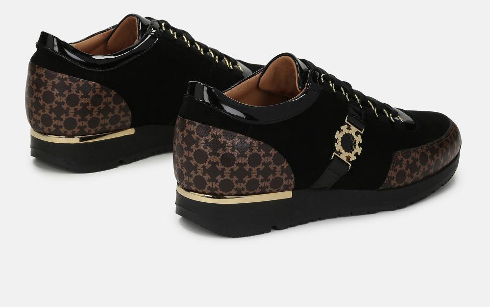Sneakersy damskie czarno brązowe 46356 05 34 z kolekcji 2020