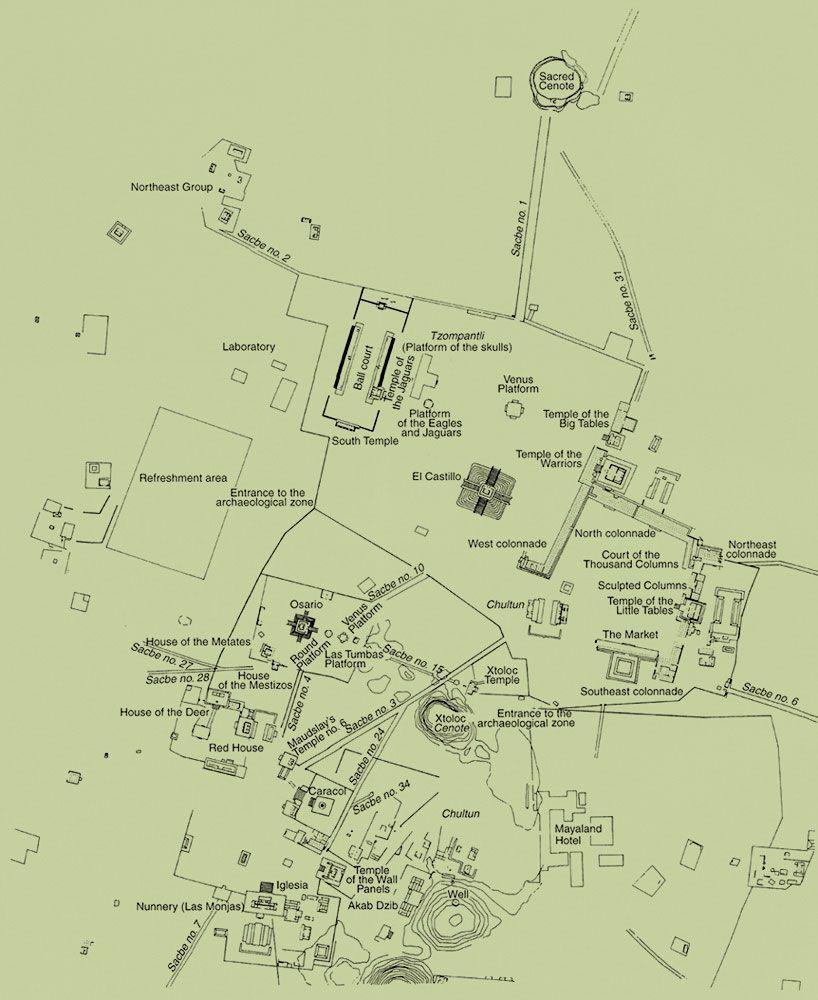 Chichen Itza Map Traveling Pinterest Aztec Ruins Chichen - Chichen itza map