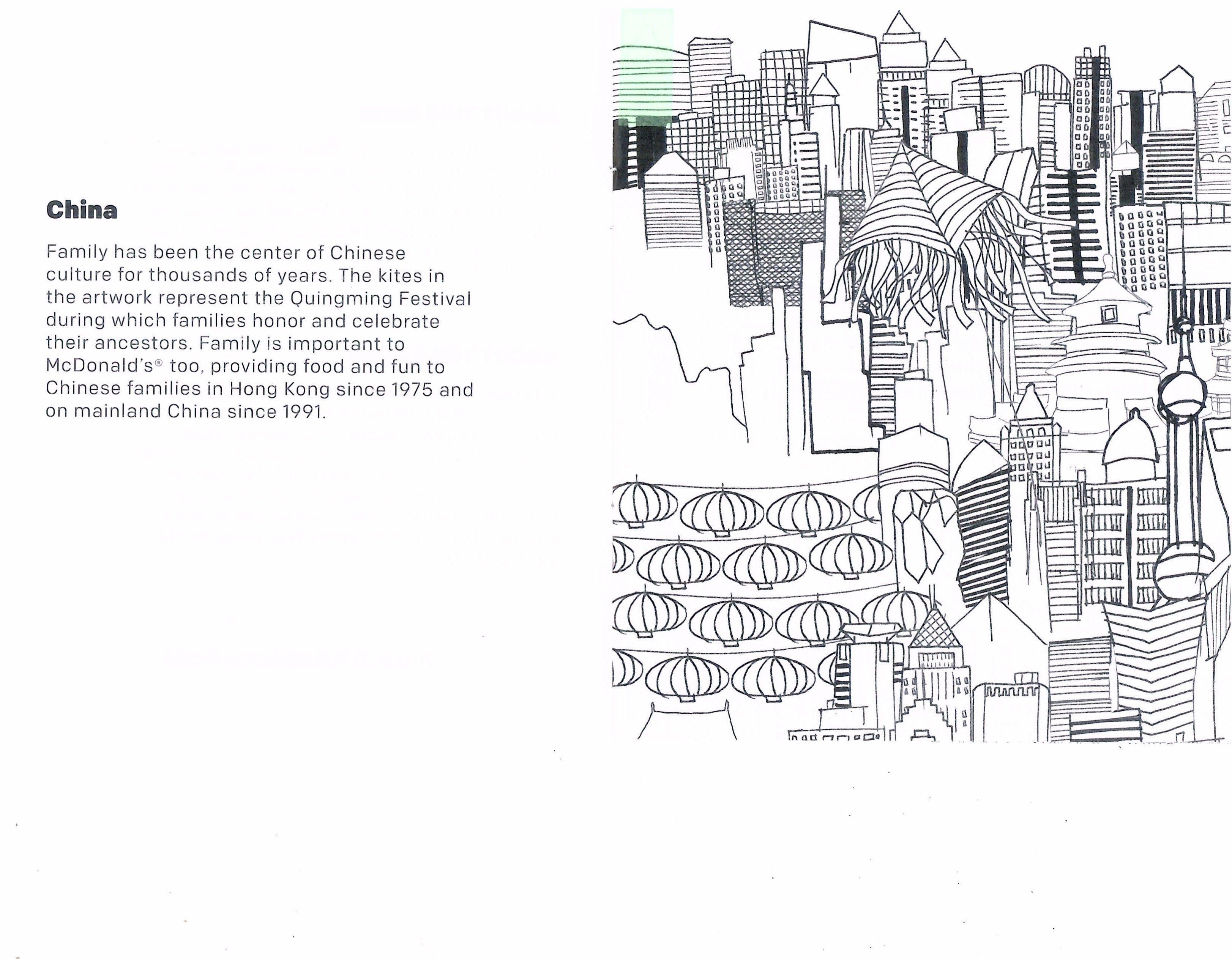 Coloring Sheet Of China